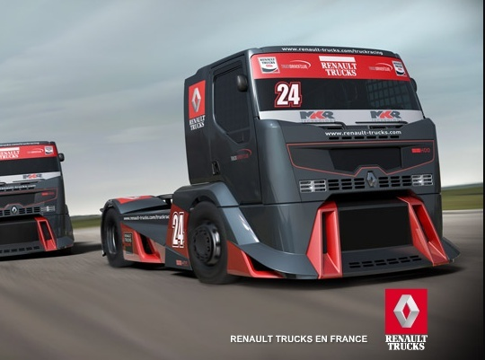 renault truck racing un nouveau camion de course. Black Bedroom Furniture Sets. Home Design Ideas