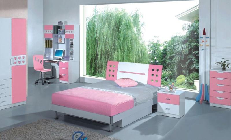 Chambre Gris Et Rose Ado: Chambre fille gris et vieux rose taupe ...