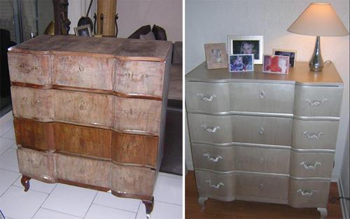 Meuble re peindre couleur argent petits conseils for Repeindre un meuble en chene