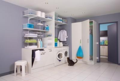 agencement cellier. Black Bedroom Furniture Sets. Home Design Ideas