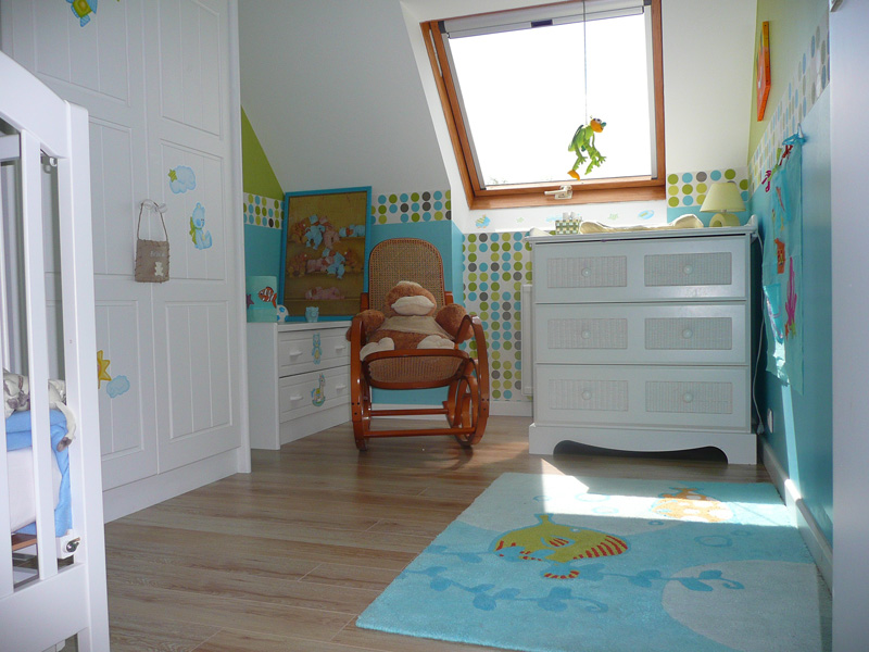 Chambre peinte en bleu photos de conception de maison - Chambre peinte en bleu ...