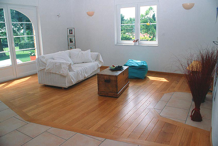 Coller parquet sur carrelage top carrelage imitation for Mettre du parquet flottant sur du carrelage