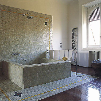 Photos de salle de bains avec mosa ques for Salle de bain bois et mosaique