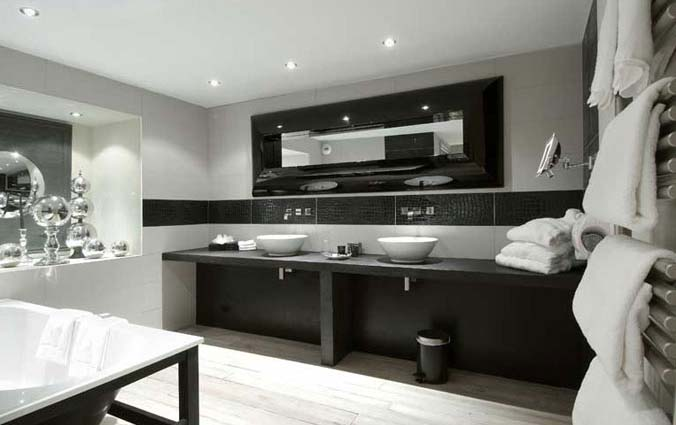 photos de salle de bains design. Black Bedroom Furniture Sets. Home Design Ideas