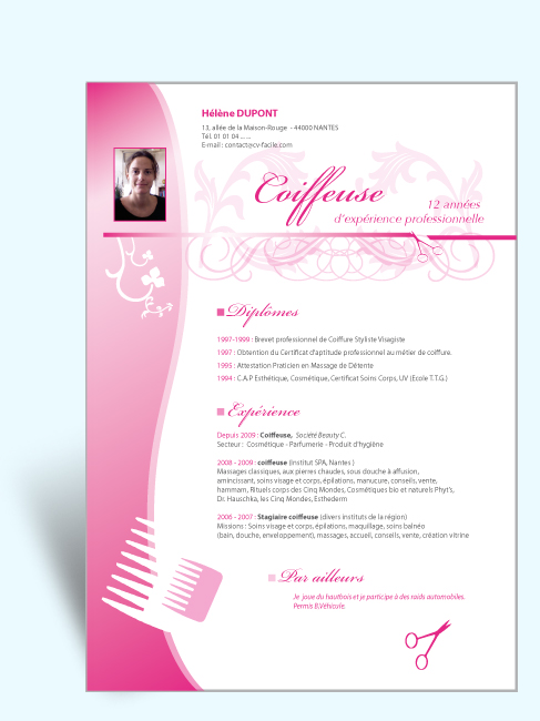cv design et original