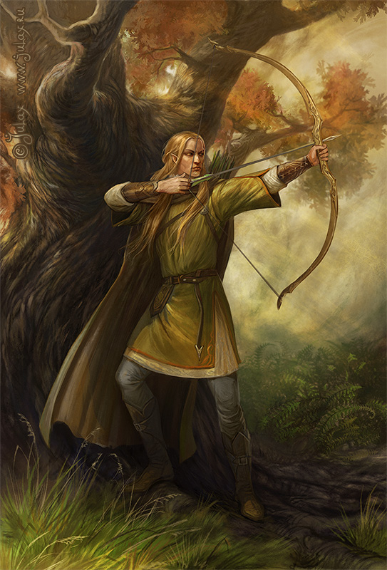 An Elf with a bow (Legolas)
