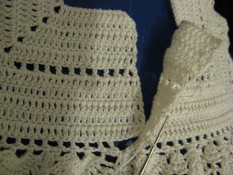 شرح مبسط لعمل فستان كروشيه للبيبي الجزء الثالث والاخير