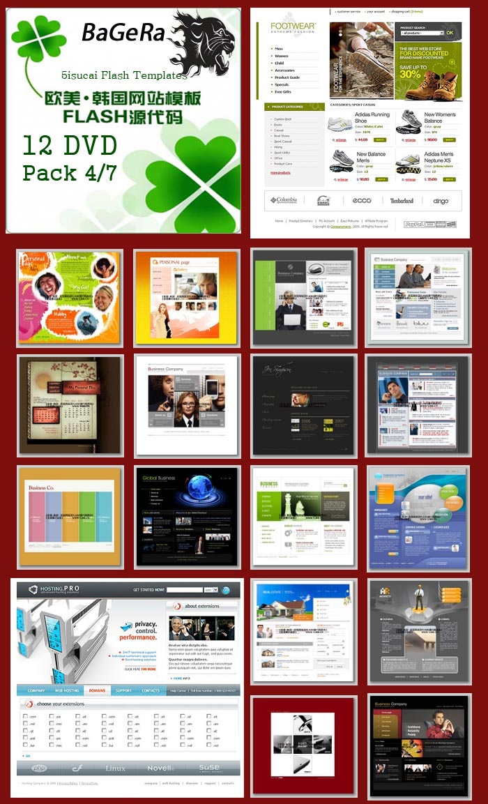 Flash Web Templates Collections DVD 4