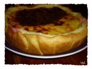 Blog de valsixt : Les gourmandises de Val, Flan pâtissier aux cerises
