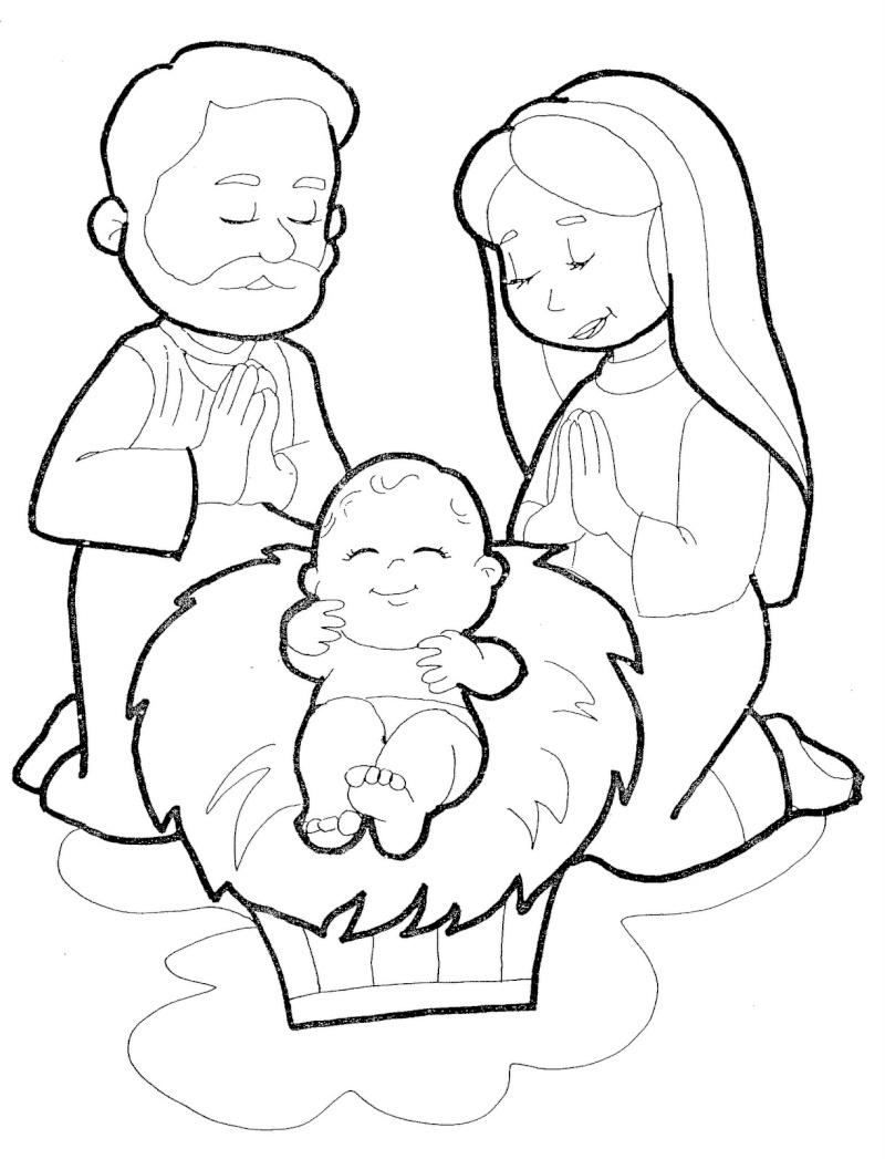 Dibujo Para Colorear De La Sagrada Familia Para Colorear Sagrada