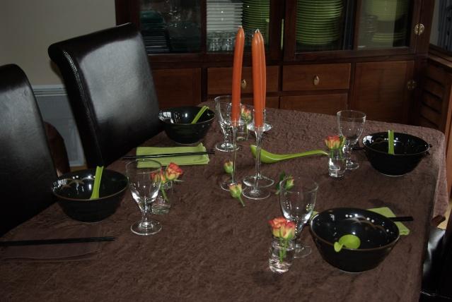 Mes d corations de table balade gourmande de c cile for Repas entre copines
