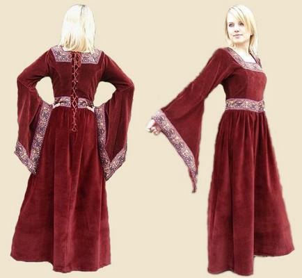 Robe de mariee rouge moyen age
