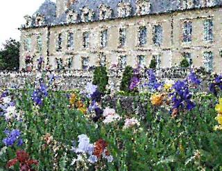 Iris devant le chateau d'Auvers dans 1-Jine chatea13