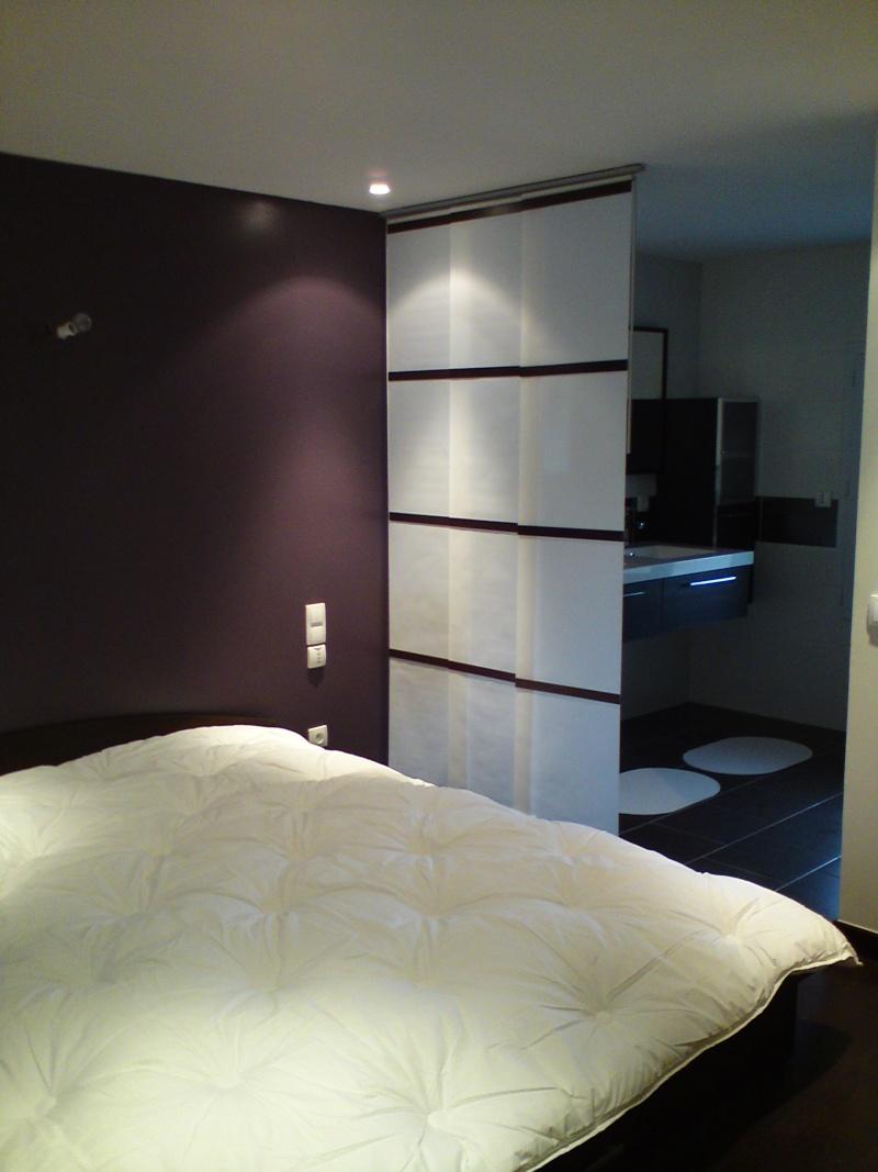 Chambre ouvert la salle de bain - Chambre avec salle de bain ouverte ...