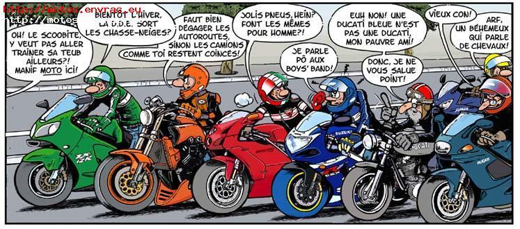 Juste envie de vous faires partager ces dessin qui me font - Image drole de motard ...