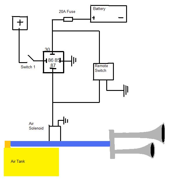 air horn wiring diagram wiring diagram and hernes wiring diagram for a horn relay the