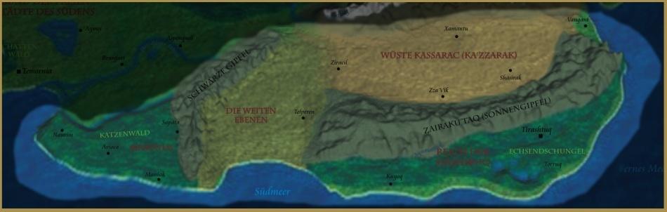 Karte des Südostens