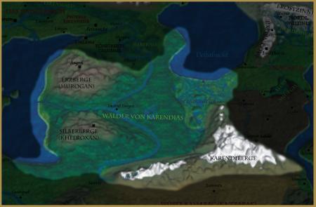 Karte der Zentralen Wildnis