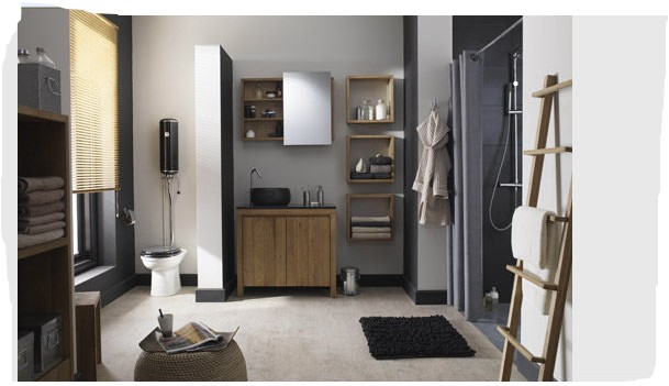 Awesome Carrelage Salle De Bain Gris Fonce 2 Contemporary ...