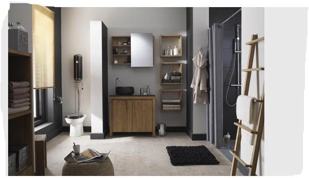 Une pi ce de plus notre salle de bains page 2 for Carrelage gris mur prune