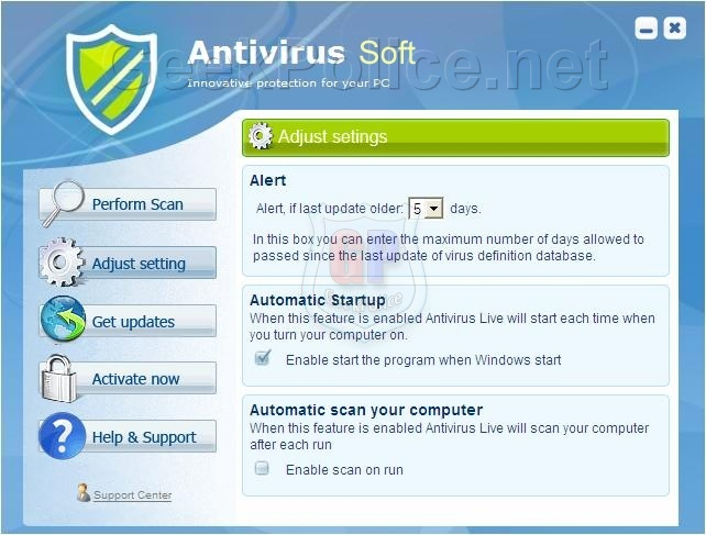 Antivirus Soft Screenshot