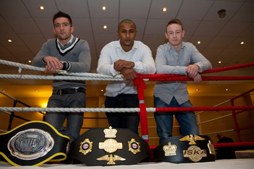 Liam Harrison, Clinton Gordon and Andy Howson at Future of Muay Thai