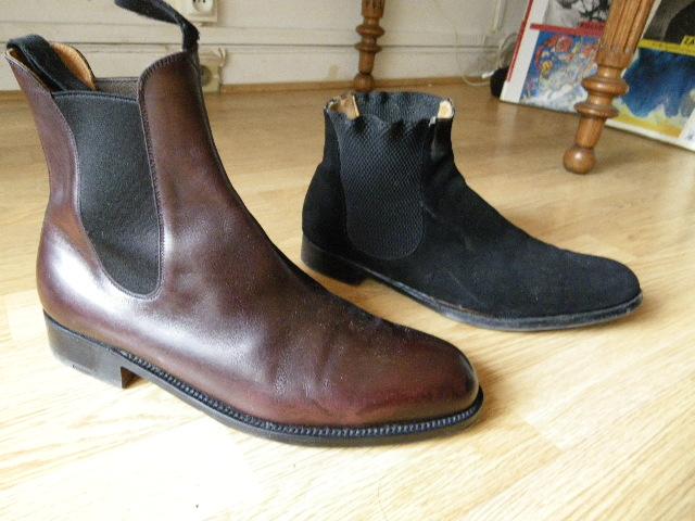 Chelsea boots (ou bottines cambrées) Weston et New  Lingwood