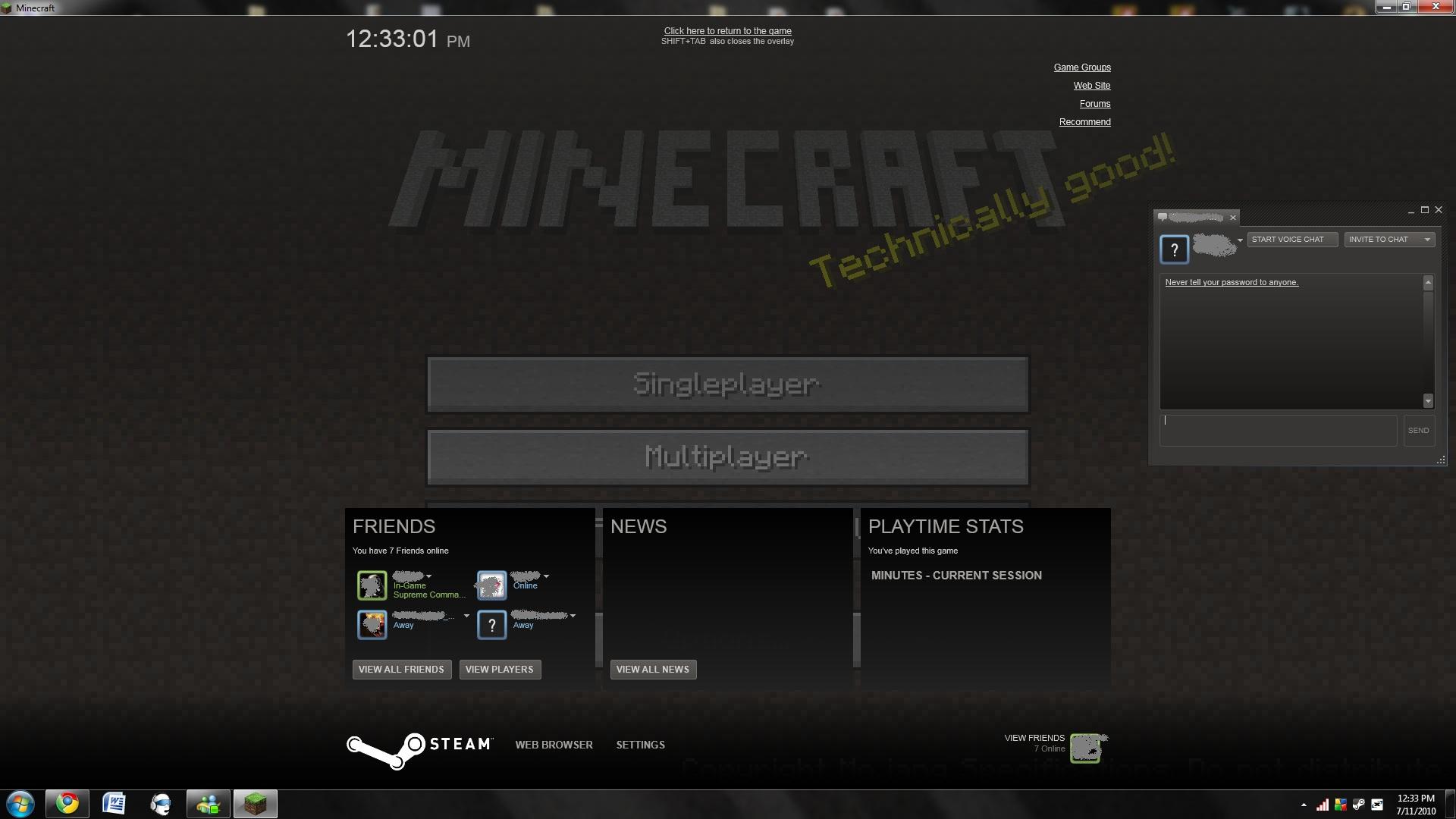 minecraft on steam alpha survival single player alpha archive minecraft forum. Black Bedroom Furniture Sets. Home Design Ideas