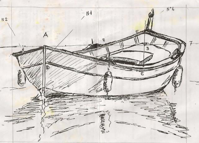 Dessin et peinture vid o 758 dessiner une barque et le pointu proven al lapalettedecouleurs - Bateau a dessiner ...
