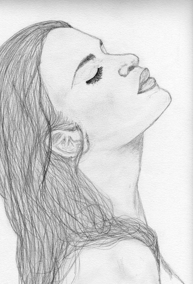Pin dessin visage femme profil on pinterest - Visage profil dessin ...