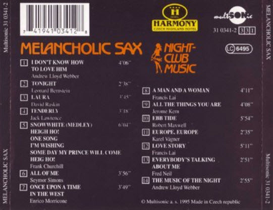 Night Club Music - Melancholic Sax - 1995