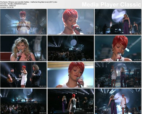 Rihanna and Jennifer Nettles - California King Bed (Live) (2011)