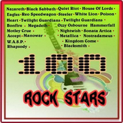 VA - 100 Rock Stars (2010)
