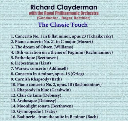 Richard Clayderman - The Classic Touch
