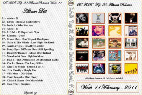 B.A.R Top 20 Albums Releases Week 11 2011
