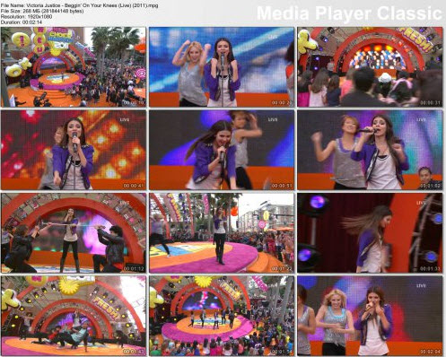 Victoria Justice - Beggin' On Your Knees (Live) (2011)