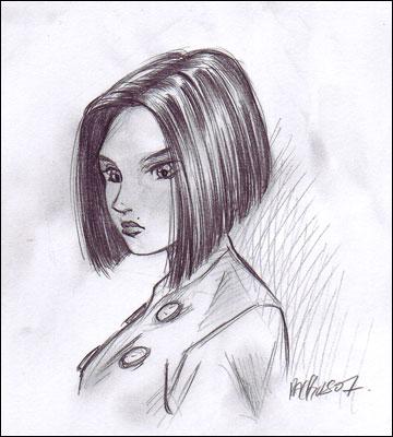 comment dessiner les cheveux d 39 une fille
