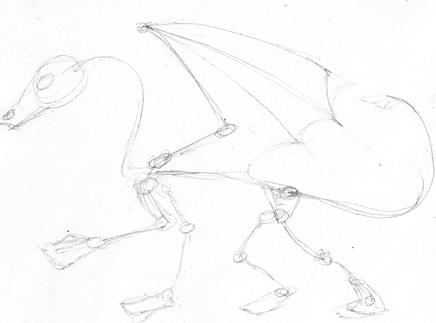 Comment dessiner un dragon - Dessiner un squelette ...