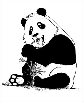 Comment dessiner un panda mangas - Panda a dessiner ...