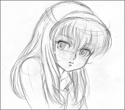 Comment dessiner des jeune fille - Dessin de jeune fille ...