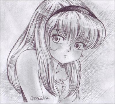 Comment dessiner une jeune fille mignonne - Comment dessiner des manga fille ...