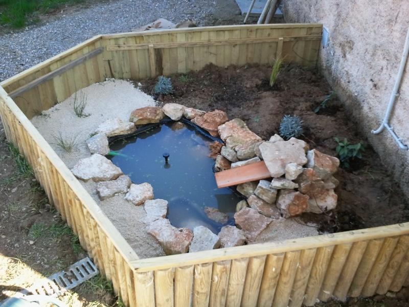 Construction bassin petit a petit for Bassin exterieur pour tortue