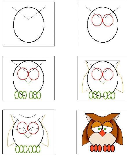 Voici comment dessiner une chouette - Chouette a dessiner ...